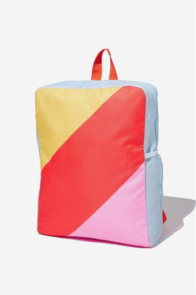 Back To School Backpack, PINK/COLOUR BLOCK