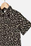 Resort Short Sleeve Shirt, LEOPARD PRINT/PHANTOM