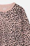 Kit Long Sleeve Top, PEACH WHIP/PHANTOM LEOPARD