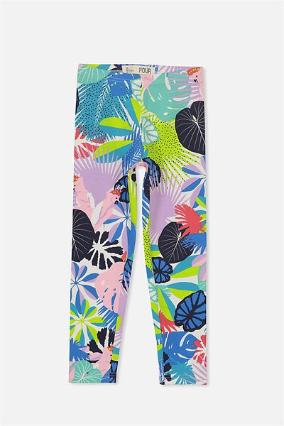 Huggie Leggings, VANILLA TROPICAL COCKATOO