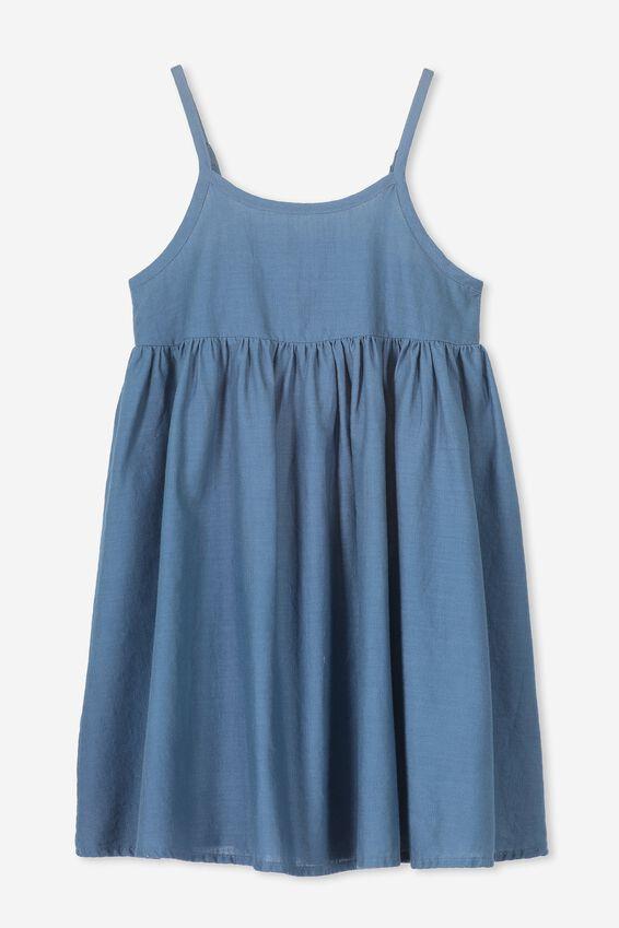 Lizzie Sleeveless Dress, WASHED STEEL