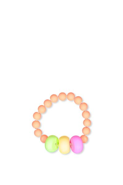 Mixed Beaded Bracelet, NEON RAINBOW