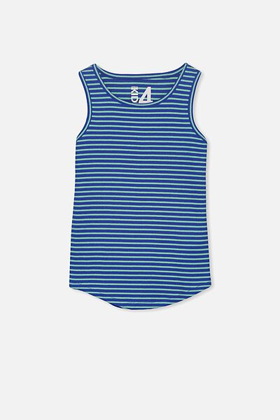 Brooke Singlet, UNI BLUE/BEVELED GLASS