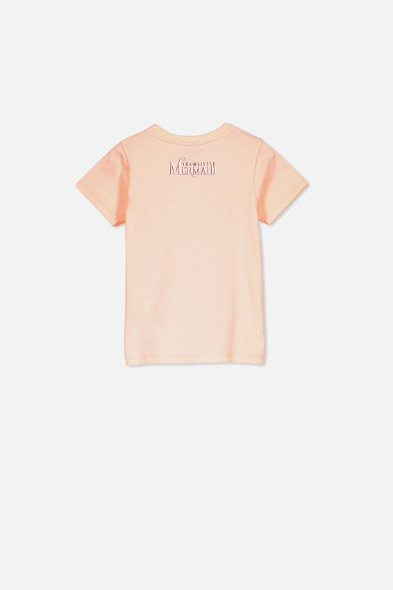 Lux Short Sleeve Tee, LCN DIS PEACH TANG/THE LITTLE MERMAID/MAX