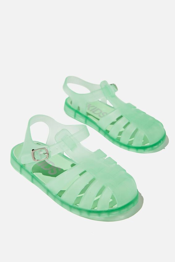 Amalfi Frosted Jelly Sandal, WASHED SPEARMINT