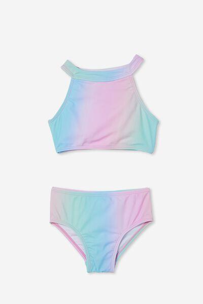 Gina High Neck Bikini, UNICORN RAINBOW
