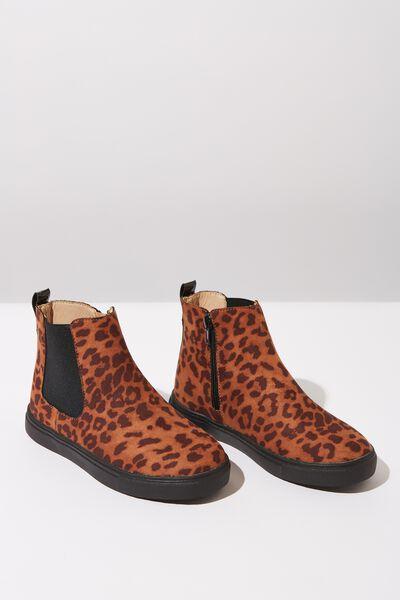 Darcy Gusset Boot, TAN ANIMAL