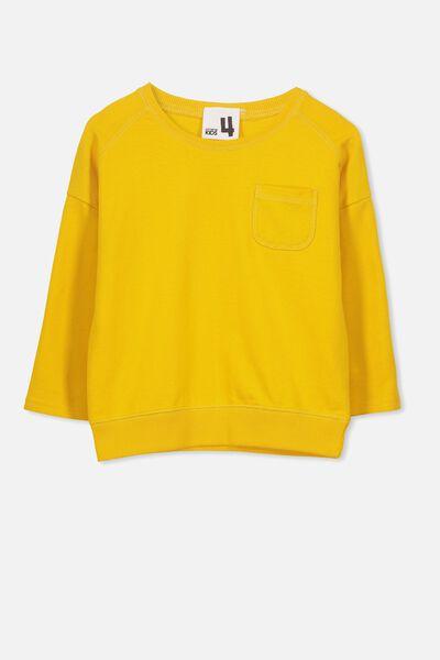 Luca Long Sleeve Top, GOLDEN ROD