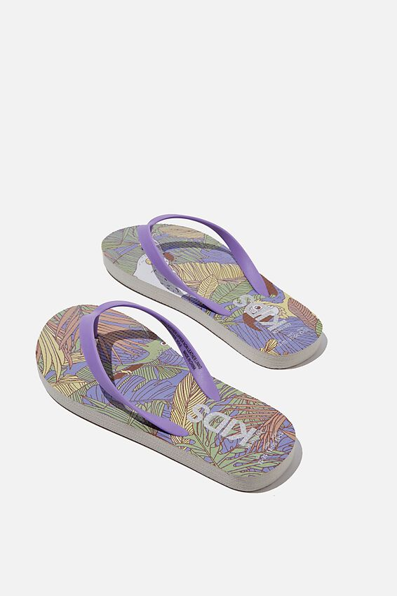 Printed Flip Flop, TROPICAL BIRDS