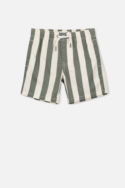 Murphy Swim Short, DARK VANILLA/WINTER GREEN VERTICAL STRIPE