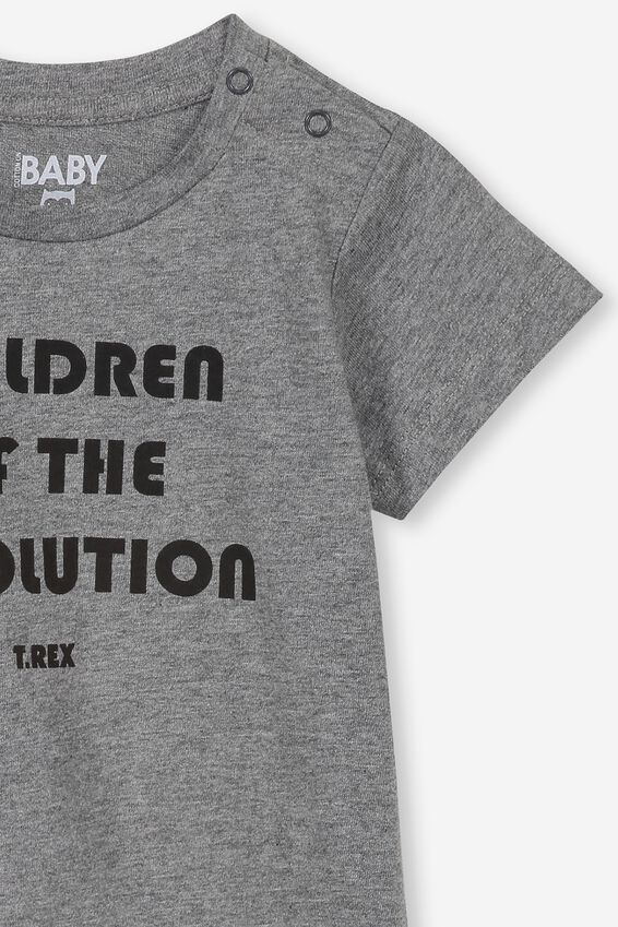 Jamie Short Sleeve Tee, LCN EP CHARCOAL/CHILDREN OF THE REVOLUTION