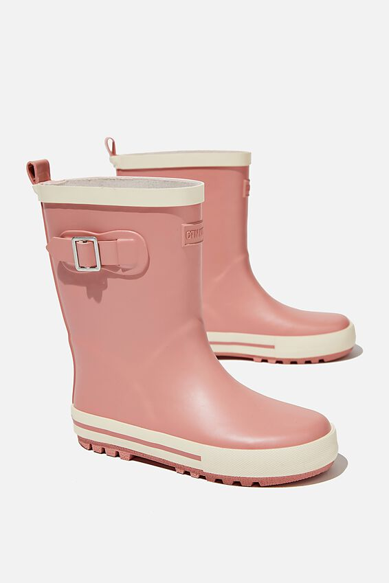 Fashion Gumboots, DUSTY PINK ECRU