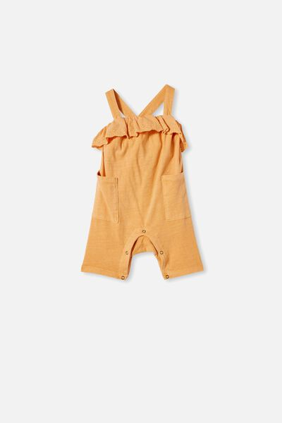 Halle Playsuit, APRICOT SUN WASH
