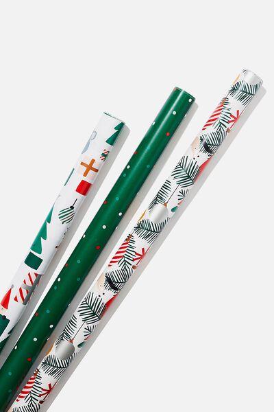 Kids Gift Wrap 3Pack, MODERN TREES