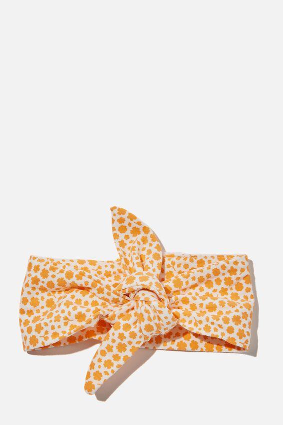 The Tie Headband, VANILLA/MELON POP EDITH FLORAL