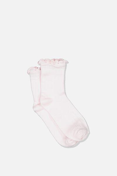 Fashion Kooky Socks, PINK RUFFLE