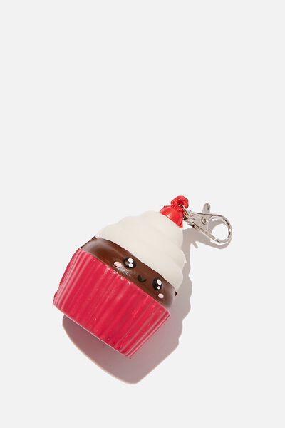 Kids Squishy Bag Charms, CHOCOLATE CUPCAKE