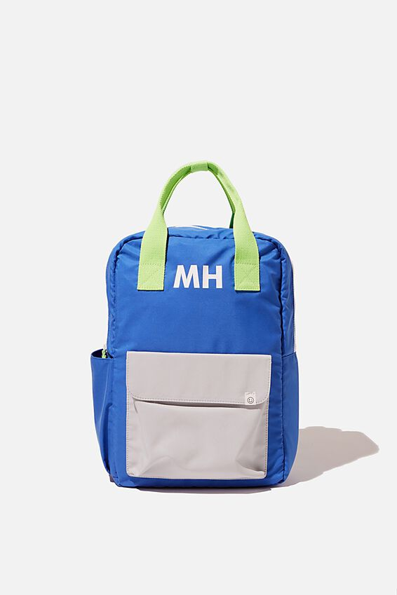 Back To School Backpack - Personalised, RETRO BLUE/GREY