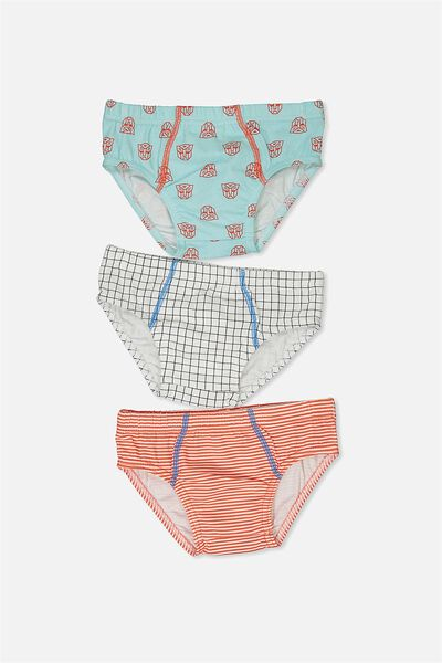 Boys Licence Brief 3 Pack, TRANSFORMERS MIX