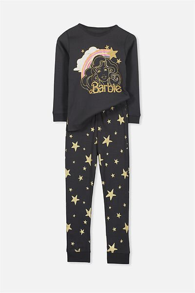 Alicia Long Sleeve Girls PJ Set, BARBIE STAR