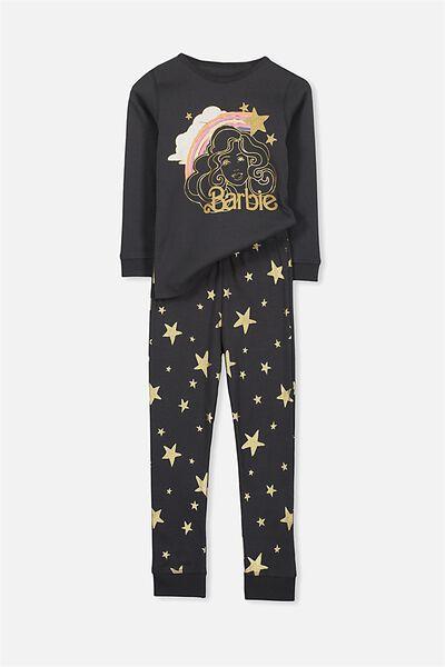Alicia Long Sleeve Girls Pj Set, BARBIE STAR