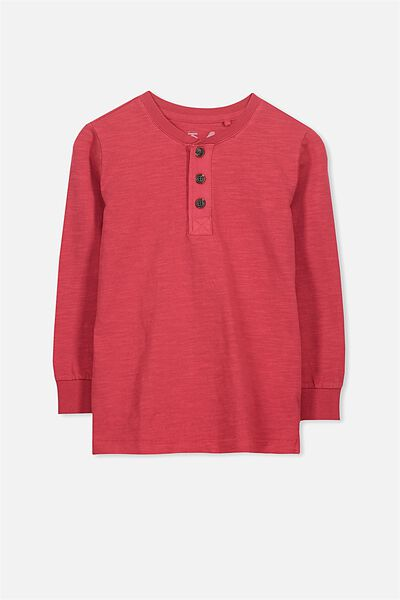 Bentley Henley, RED SLUB GD/SIS CUFF