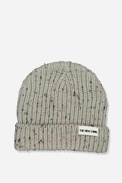 Winter Knit Beanie, FISHERMAN/GREY M