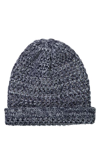 Winter Knit Beanie, BLUE MARLE