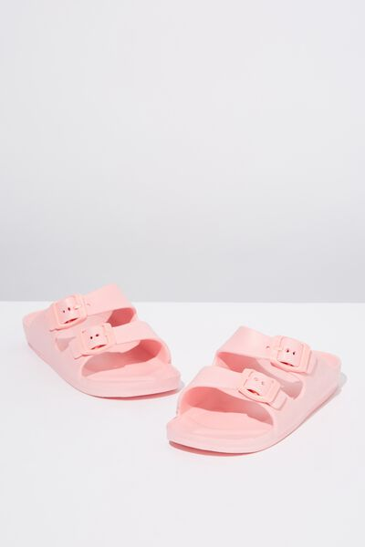 Twin Strap Slide, PINK GRAPEFRUIT