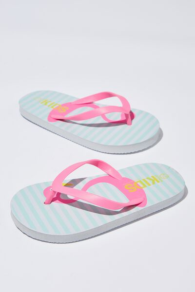 Printed Flip Flop, G NEW KISSING FLAMINGO