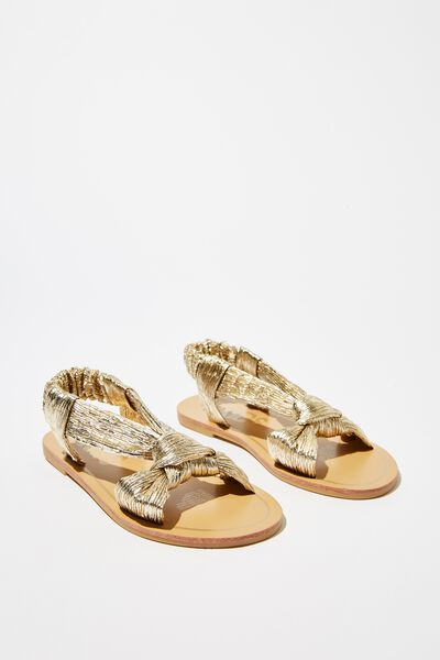 Knot Sandal, GOLD