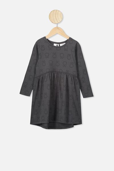 Freya Long Sleeve Dress, LCN MIF PHANTOM/MIFFY HEADS