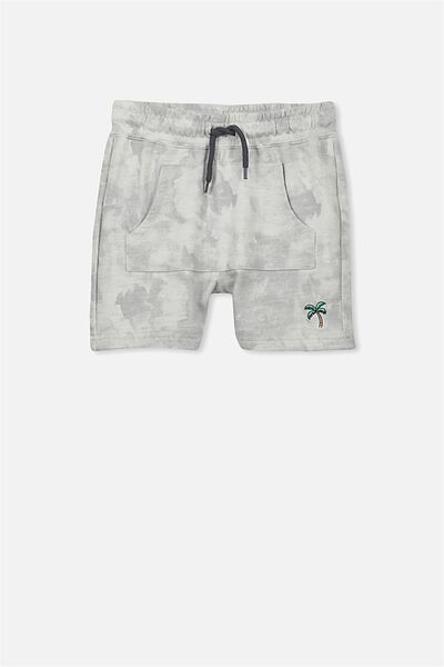 Henry Slouch Short, WINTER GREY FAUX PALM