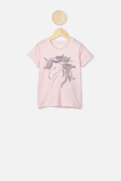 Penelope Short Sleeve Tee, CRYSTAL PINK/SHINY UNICORN MANE/MAX