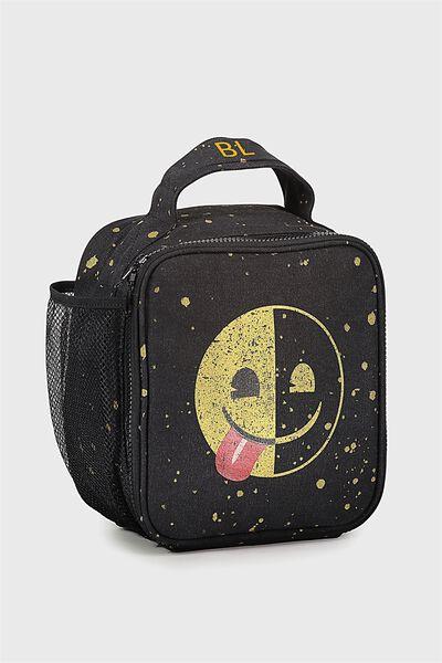 Emoji Personalised Lunch Bag, EMOJI HALF SMILE PERSONALISED