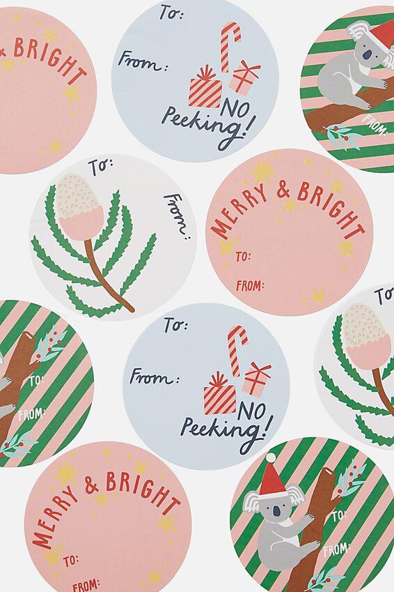 Christmas Wrap Stickers, AUSTRALIANA