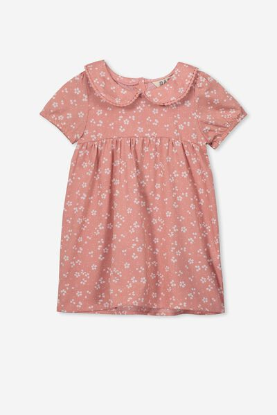 Arlo Short Sleeve Dress, CAMEO BROWN/EMMA FLORAL