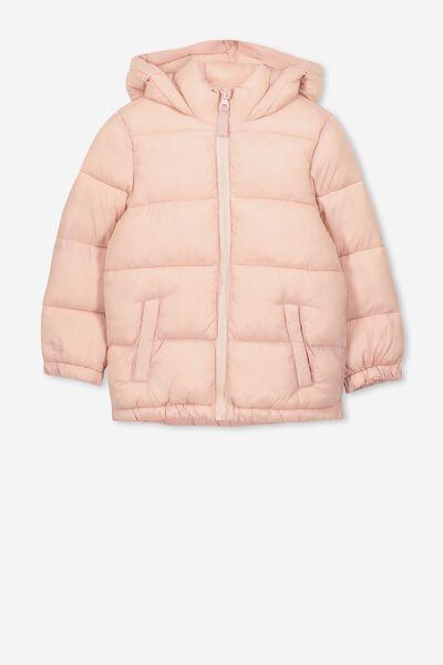 Frankie Puffer Jacket, SILVER PINK
