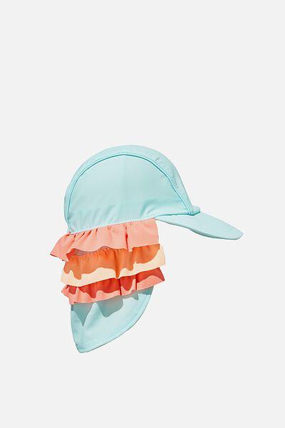 Swim Hat, DREAM BLUE RUFFLE