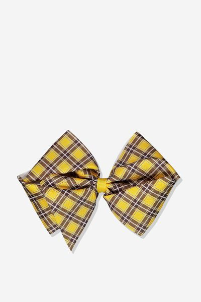 Statement Bows, GOLDEN ROD/CHECK