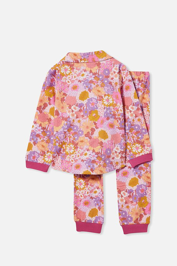 Angie Long Sleeve Pyjama Set, BOHO FLORAL/TULIP