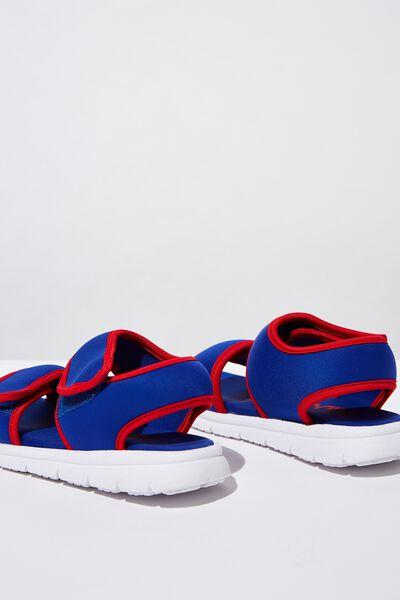 Louis Sports Sandal, BLUE/RED