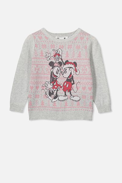Milly Jumper, LCN DIS SILVER MARLE/MICKEY AND MINNIE FAIRISLE