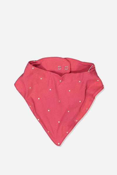 The Kerchief Bib, LUCKY RED/FOIL SPOT