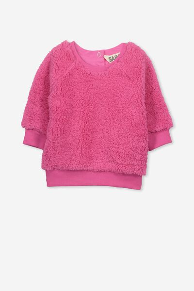 Avery Cozy Pullover, HOT FUCHSIA