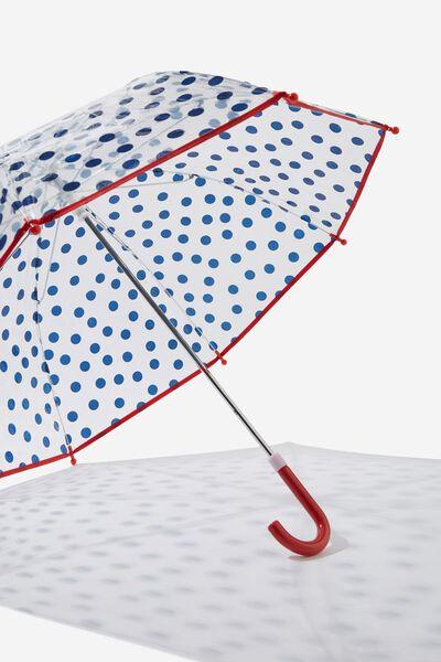 Kids Cloudburst Umbrella, NAVY SPOTS
