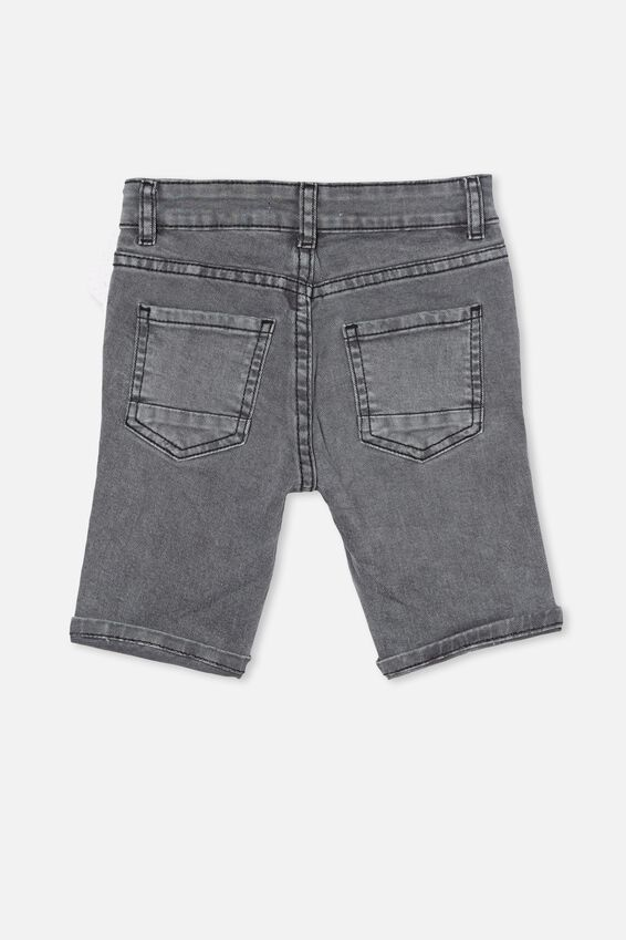 Bermuda Denim Short, GUNMETAL WASH