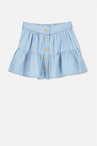 Suri Skirt, LIGHT BLUE WASH
