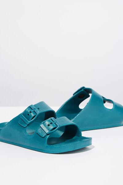 Twin Strap Slide, DEEP SEA GREEN