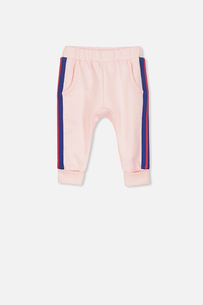 Shelby Trackpant, BUBBLEGUM PINK/SIDE STRIPE